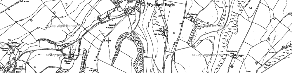 Old map of Wynford Ho in 1886