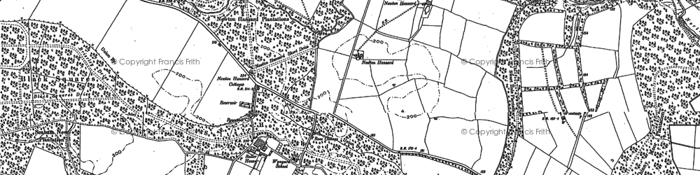 Old map of Whinny Moor Plantn in 1856