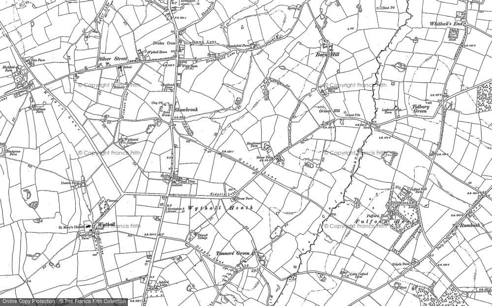 Old Map of Wythall, 1903 in 1903