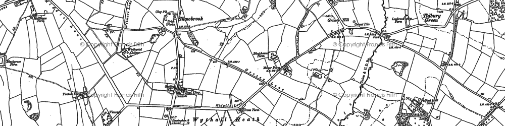 Old map of Wythall in 1903