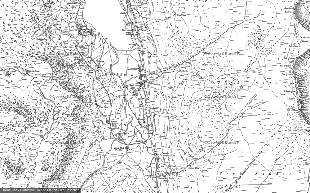 Old Map of Wythburn, 1897 in 1897