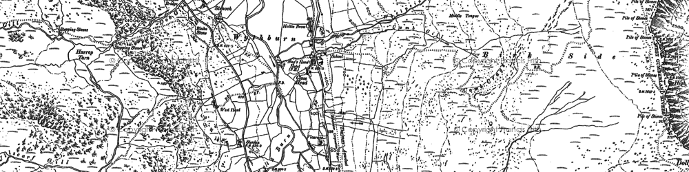 Old map of Wythburn Fells in 1897