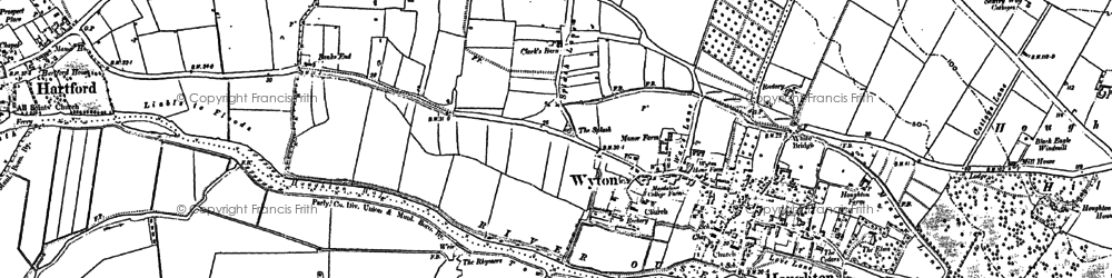 Old map of Wyton in 1885