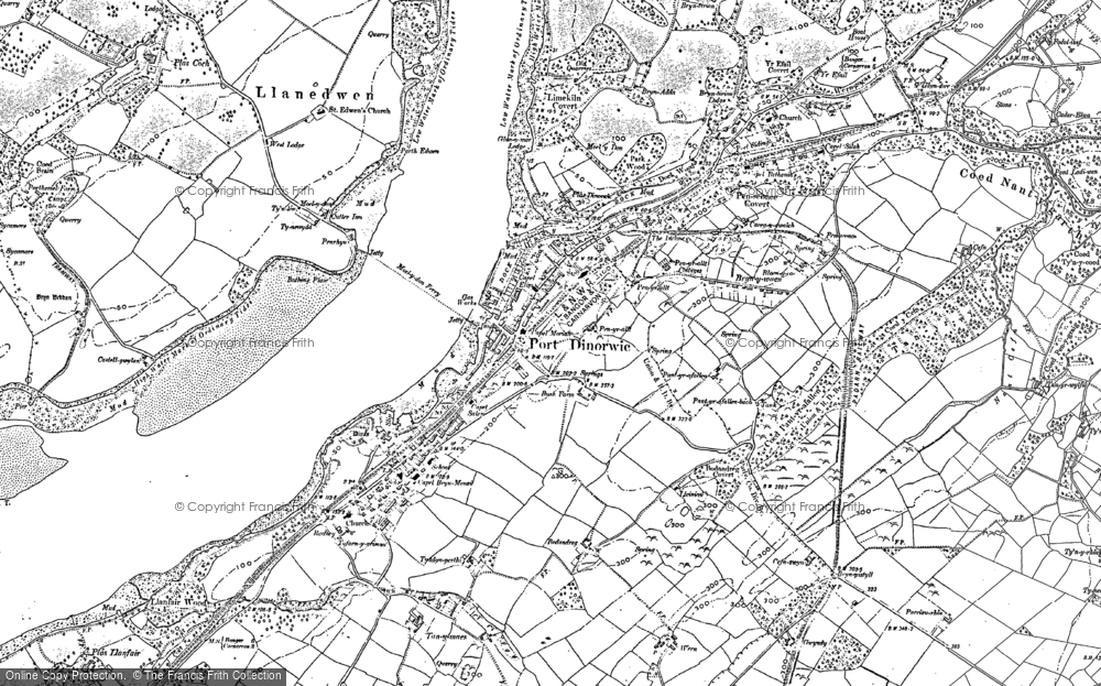 Old Map of Y Felinheli, 1899 in 1899