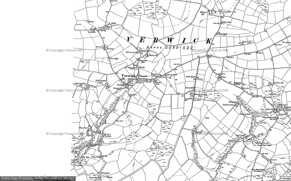 Old Map of Y Ferwig, 1904 in 1904