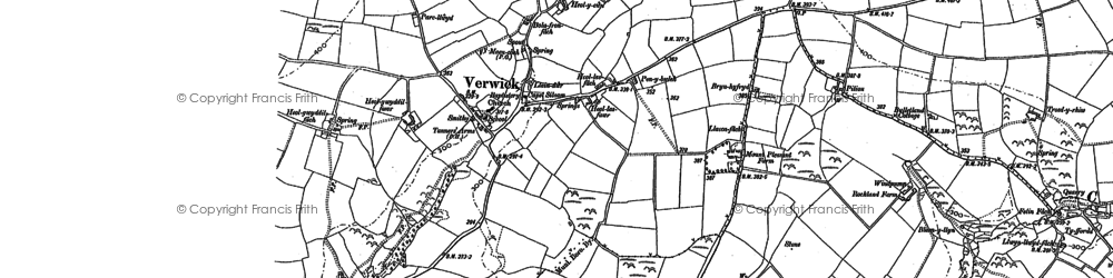 Old map of Y Ferwig in 1904