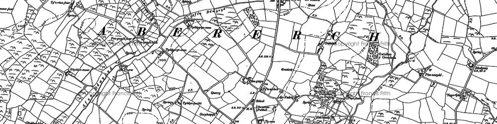 Old map of Y Ffôr in 1888