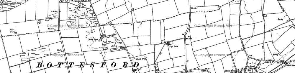Old map of Yaddlethorpe in 1885