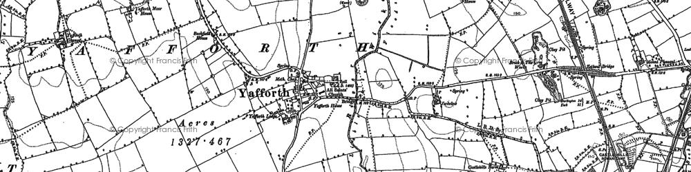 Old map of Yafforth Moor Ho in 1891