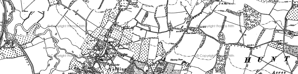 Old map of Yalding in 1895