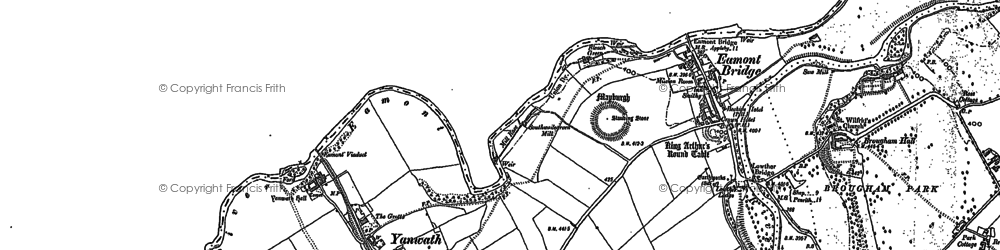 Old map of Yanwath in 1913