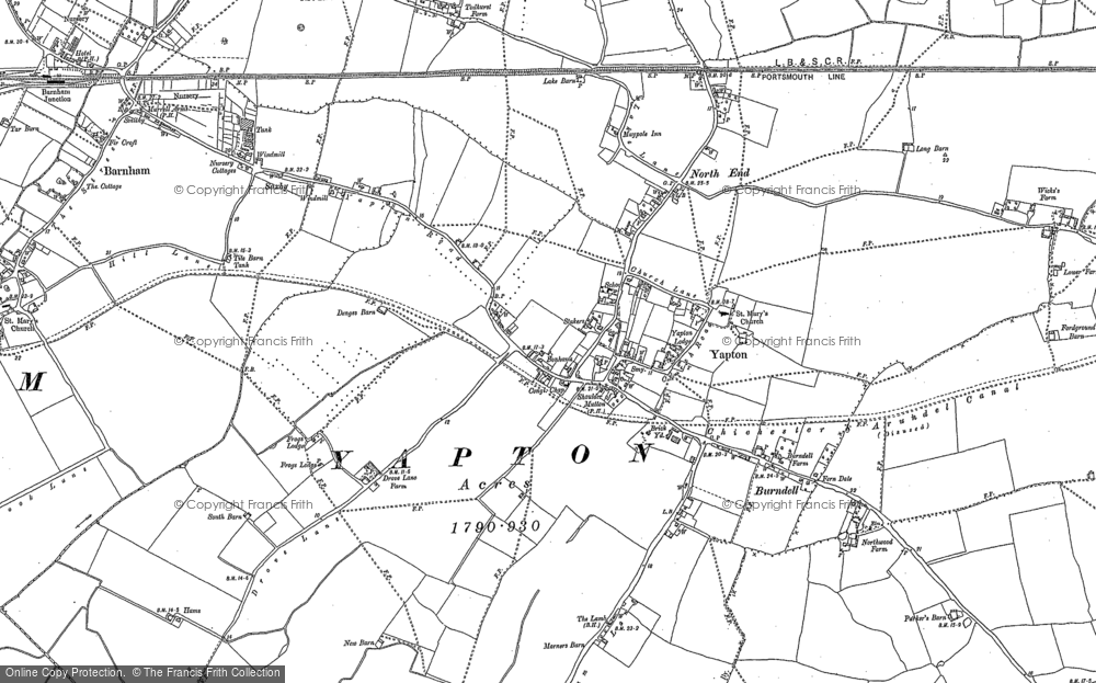 Map of Yapton, 1896