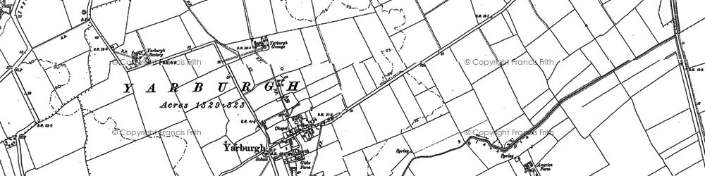 Old map of Yarburgh Grange in 1887