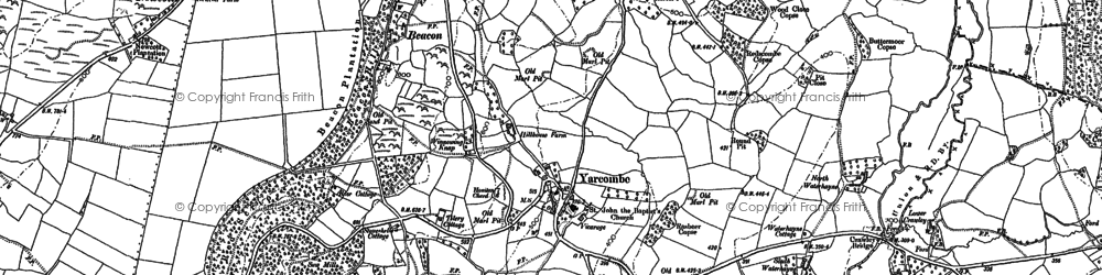 Old map of Yarcombe in 1887