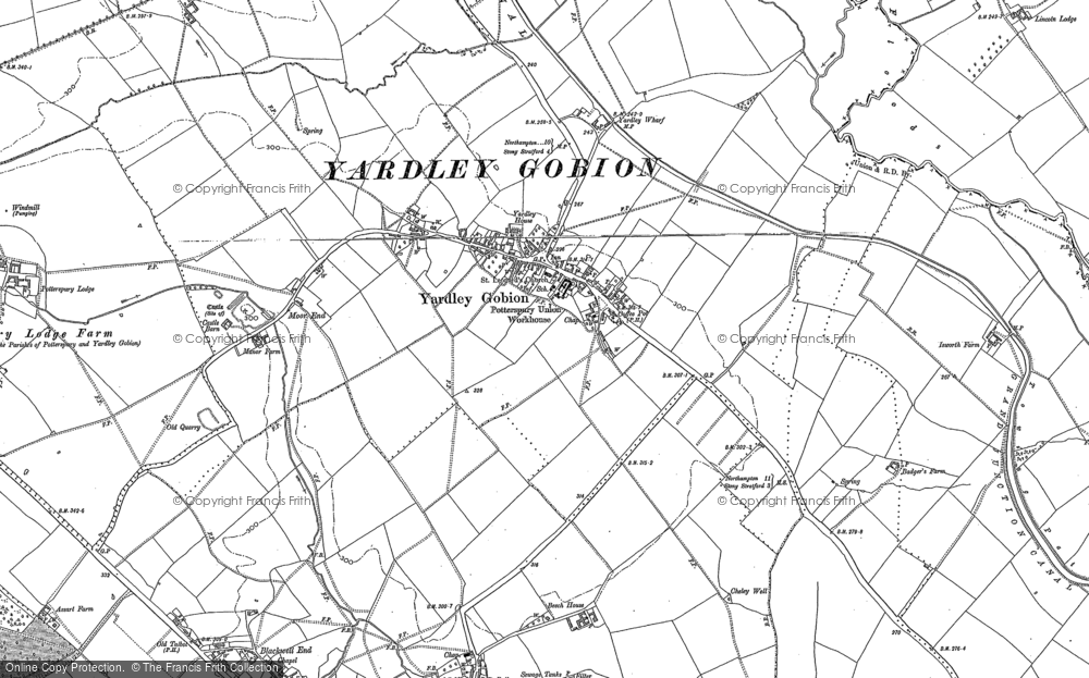 Old Map of Yardley Gobion, 1898 - 1899 in 1898