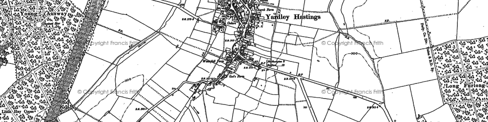 Old map of Avenue Lodges in 1899