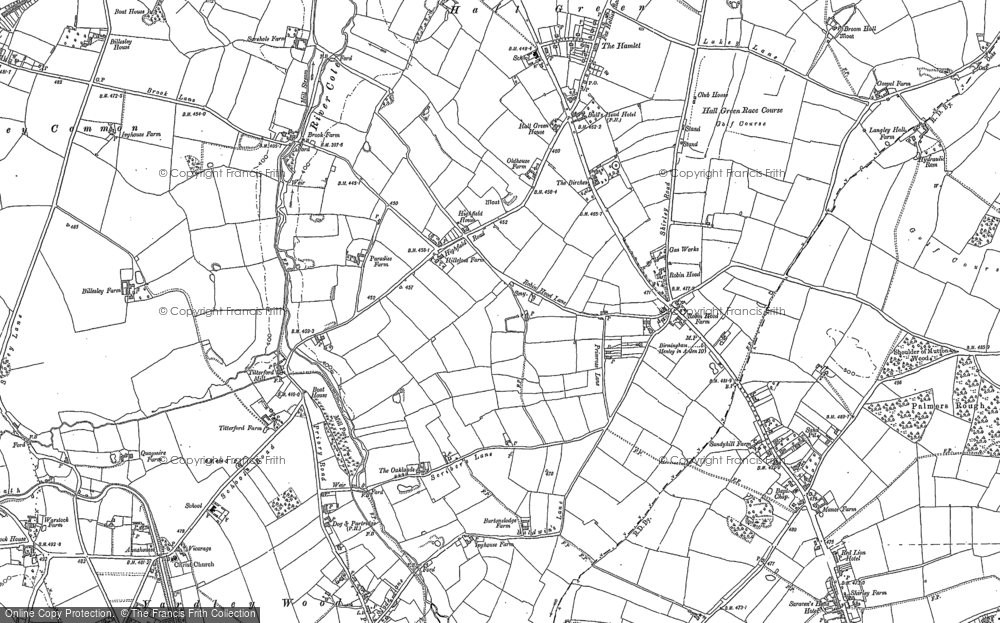 Old Map of Yardley Wood, 1903 in 1903