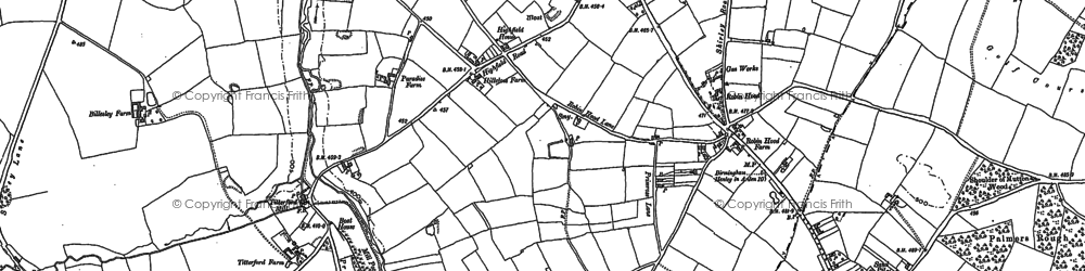 Old map of Yardley Wood in 1903