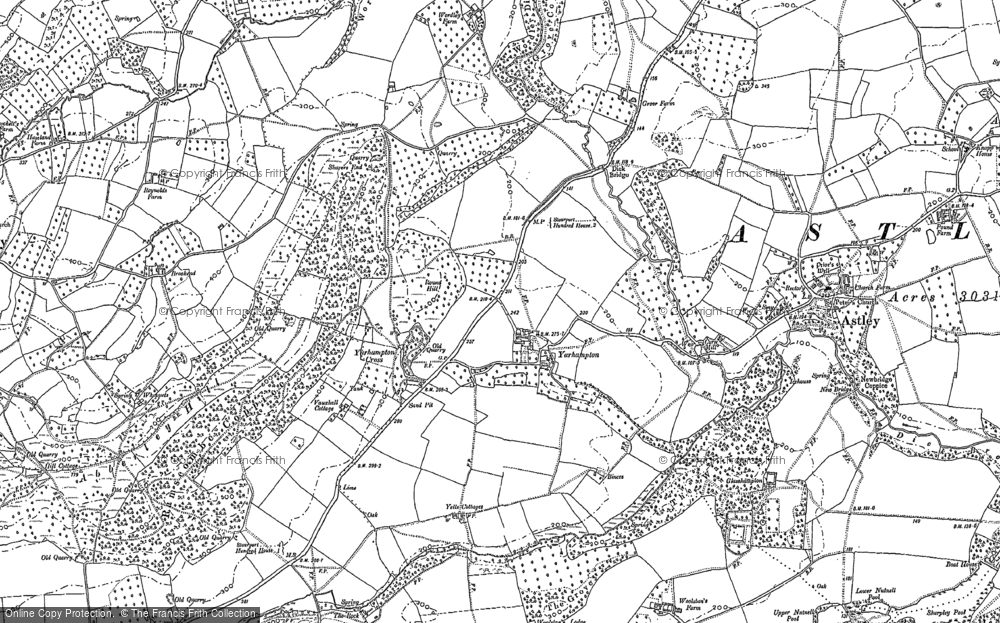 Old Map of Yarhampton, 1883 in 1883
