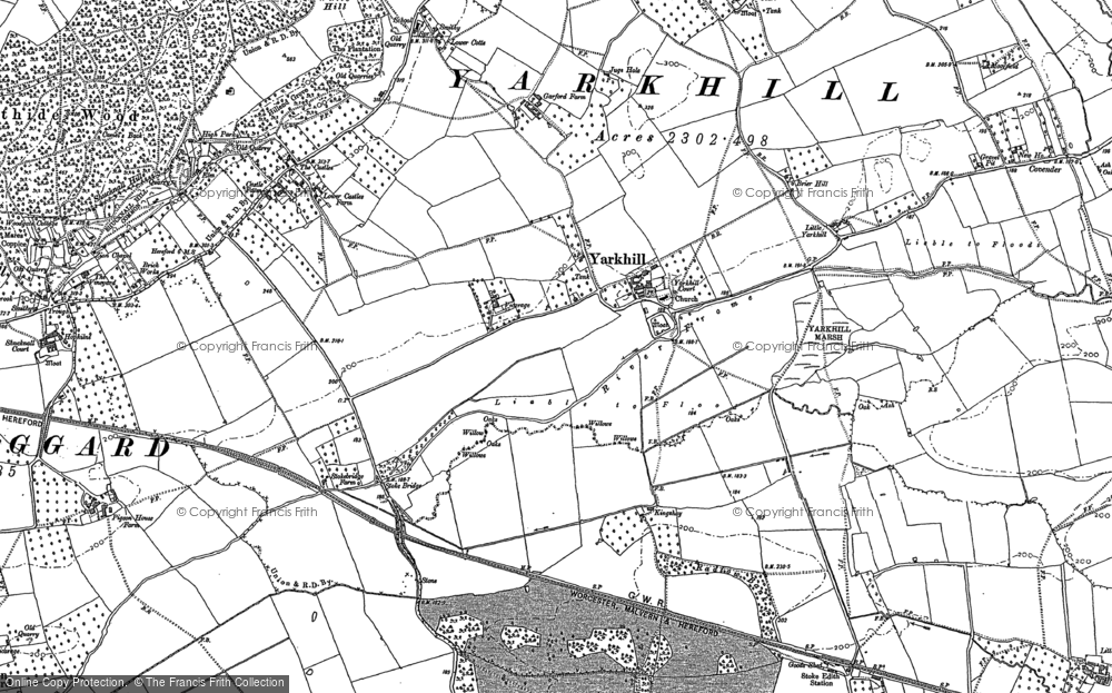 Old Map of Historic Map covering Woodmanton in 1886