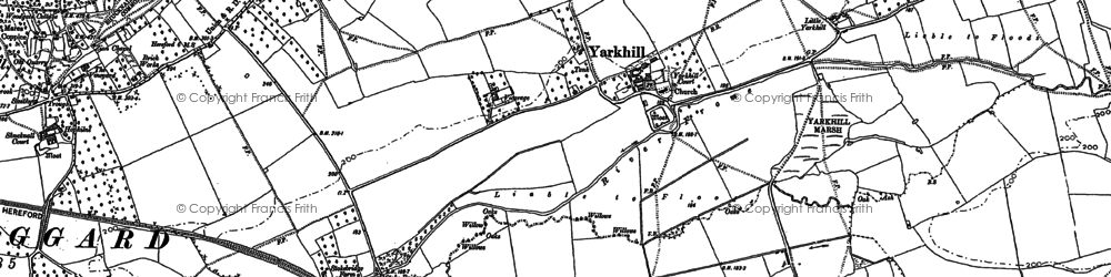 Old map of Yarkhill in 1886
