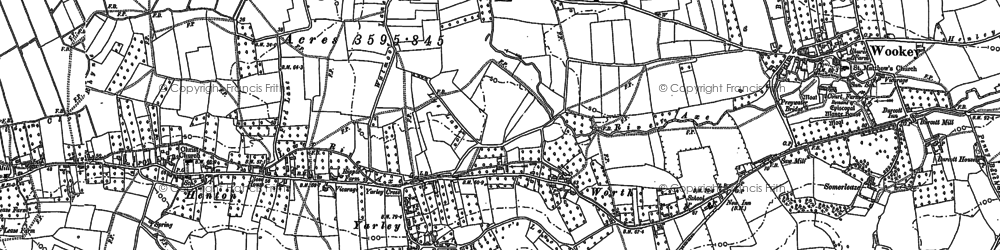 Old map of Yarley in 1884