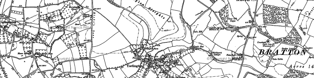 Old map of Yarlington Ho in 1885