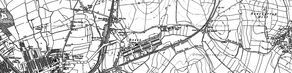 Old map of Yarlside in 1911