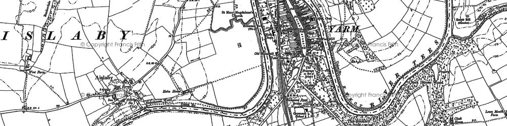 Old map of Yarm in 1893