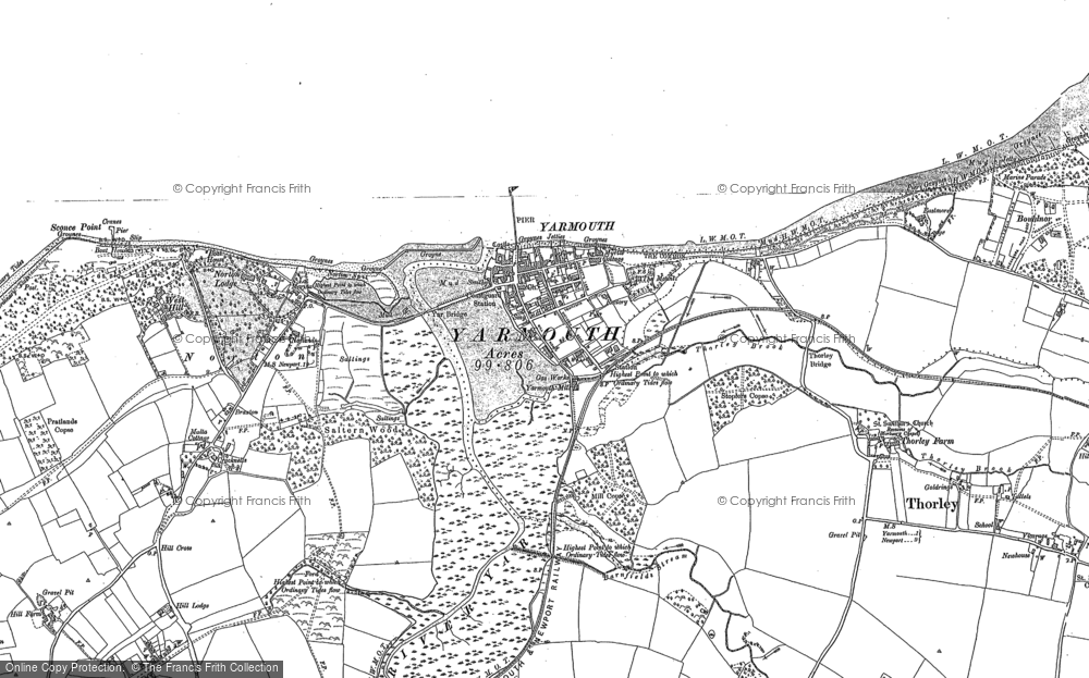 Map of Yarmouth, 1896 - 1907