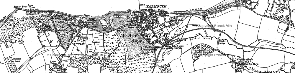 Old map of Yarmouth in 1896