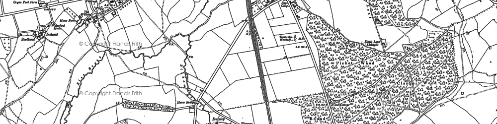 Old map of Yarnbrook in 1922