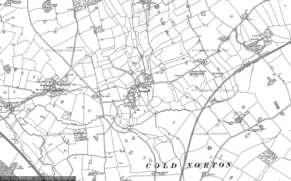 Old Map of Yarnfield, 1879 in 1879