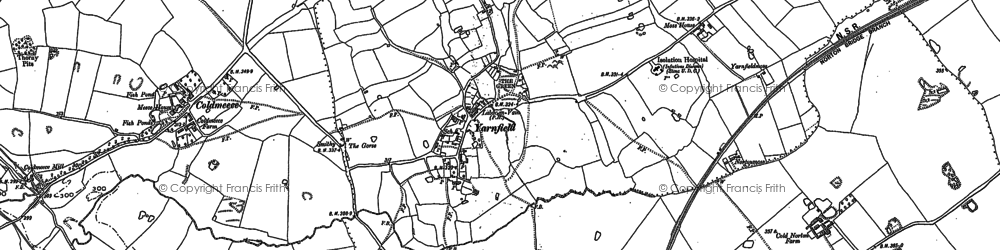 Old map of Yarnfield in 1879
