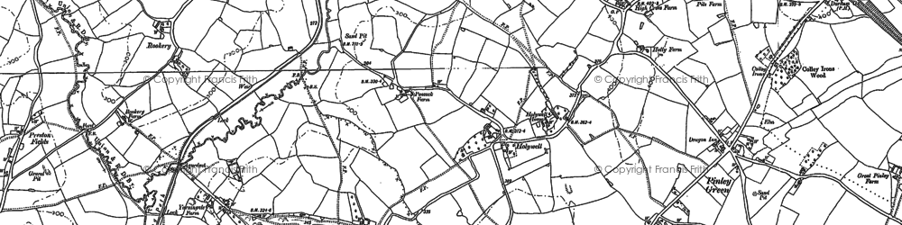 Old map of Yarningale Common in 1886