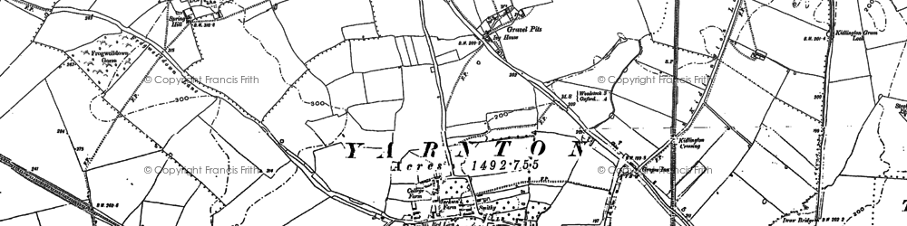 Old map of Yarnton in 1898
