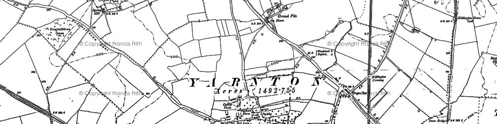 Old map of Yarnton Ho in 1898