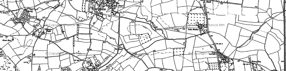 Old map of Yarpole in 1885