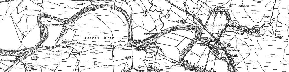 Old map of Yarrow in 1896