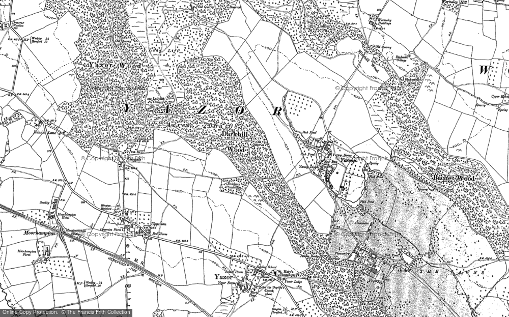 Old Map of Yarsop, 1886 in 1886