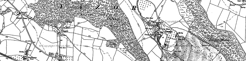 Old map of Bache Wood in 1886