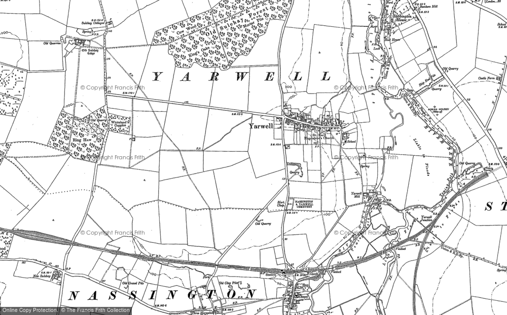 Old Map of Yarwell, 1885 - 1899 in 1885