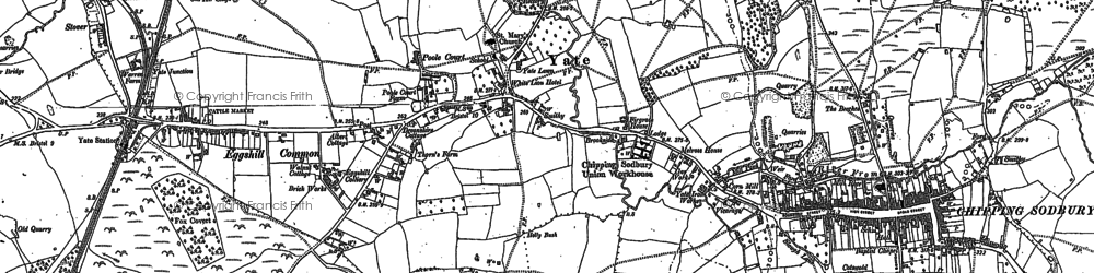 Old map of Yate in 1881