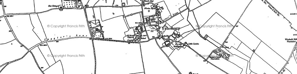 Old map of Yatesbury Field in 1899