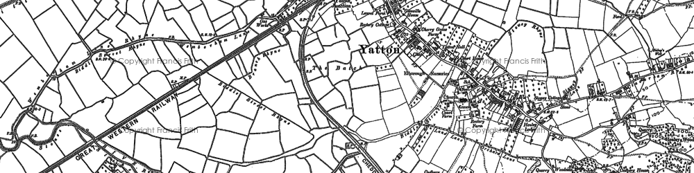 Old map of Yatton in 1883