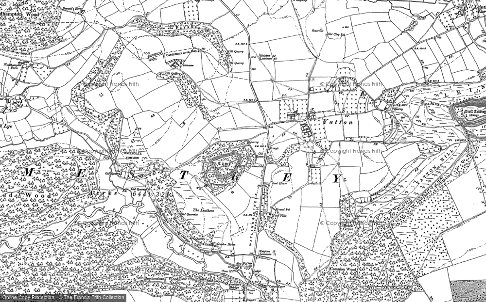 Old Map of Yatton, 1885 - 1902 in 1885