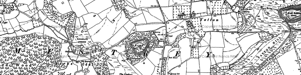 Old map of Yatton Hill in 1885