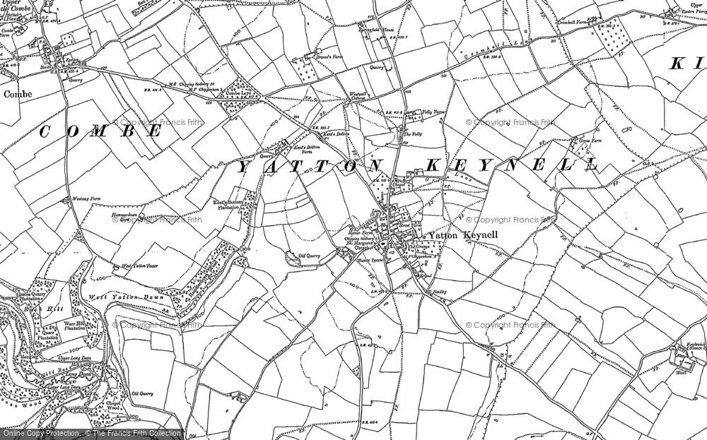 Old Map of Yatton Keynell, 1919 - 1920 in 1919