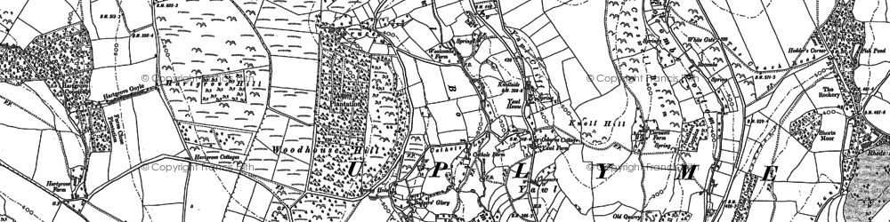 Old map of Yawl Hill in 1903
