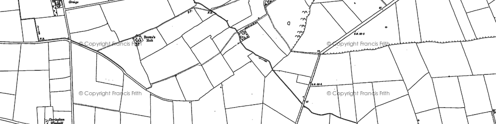 Old map of Yawthorpe in 1885